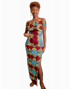 Vestido longo Modash African Queen