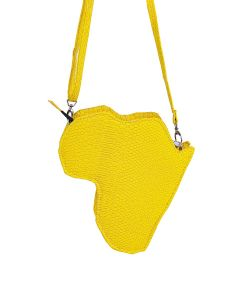 Bolsa África Tiracolo-Amarelo