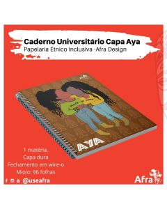 Caderno AYA Papelaria Étnico Inclusiva 2021- Coleção Ressignificar