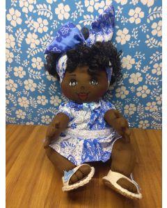 UpaNeguinha Bebê  P vestido  azul