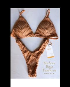 Biquíni Malawi Bege Texturizado-M