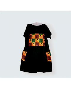 Vestido ghana geometrico