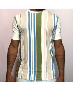 Camiseta Duo Listra-Branco-M