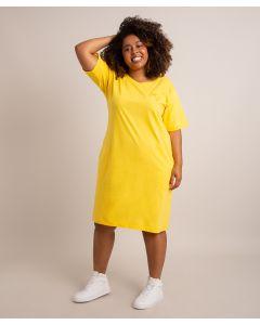 Vestido Bordado Identidade-Amarelo-PP