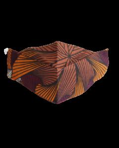 Máscara 3D em tecido africano - Adinkra-M