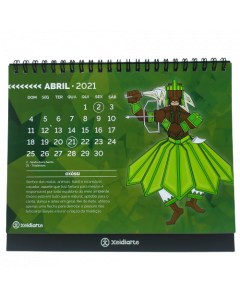 Axé - Calendário de Mesa 2021