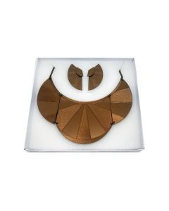Conjunto Maxi Colar e Brinco Ear Jacket Tiye-Marrom