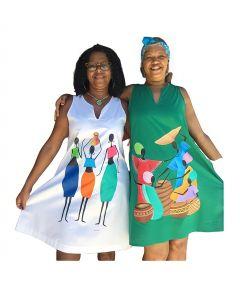 Vestido Dayse (branco) Selma (verde)