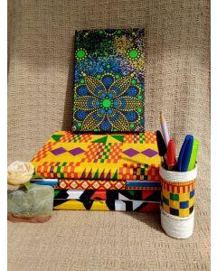 Caderno 14x21 Florido VerdeAzul