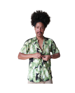 Camisa Flolhas-Verde-P