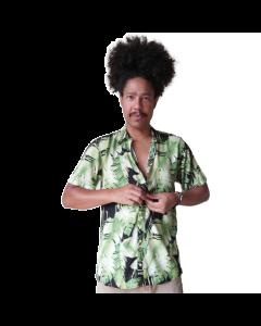 Camisa Flolhas-Verde-G