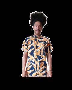 Camisa Outonal ( s/genero)-Azul-P