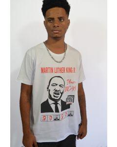 CAMISETA MARTIN LUTHER KING JR-Branco-GG