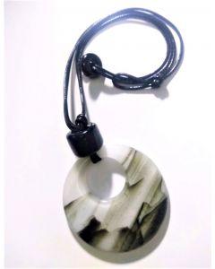 Colar Pingente Medalhão de Glass Fusing