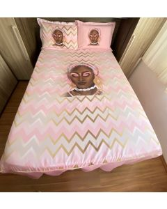 Jogo de cama mulher preta