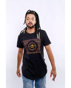 Camiseta Umsuka Longline Mandala Mural Unissex