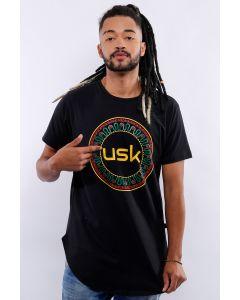 Camiseta Umsuka Longline Mandala Cor Unissex