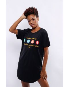 Camiseta Umsuka Longline Adinkra I Unissex