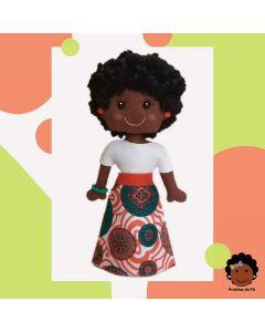 Boneca Pretitas Saia Afro