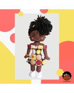 Boneca Pretitas Vestido Afro