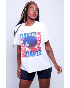Camiseta Angela Davis-Branco-GG