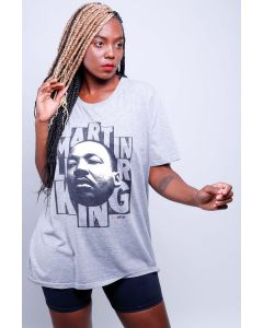 Camiseta Martin Luther King-Cinza-P