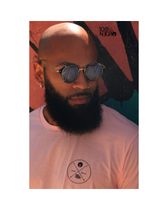 Camiseta Long line 100%NEGRO OX-G-Rosa Pink