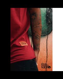Camiseta Long line 100%NEGRO OX-M