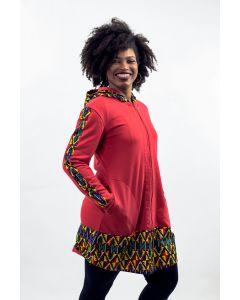 Casaco Moletom e Recorte em Tecido Africano II