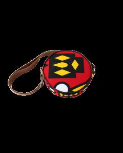 Bolsa redonda em tecido africano Obi