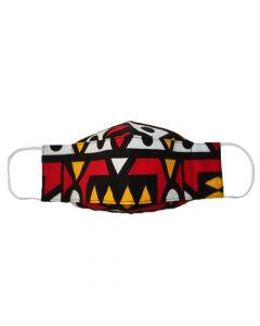 Máscara 3D em tecido africano - Samakaka-PP