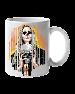 Caneca De Porcelana Mulher Caveira