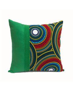 Capa de almofada Mirhabe verde 45x45