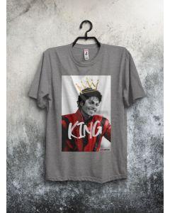 Camiseta MJ King-Cinza-P