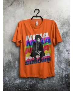 Camiseta Nina Simone II-Laranja-M