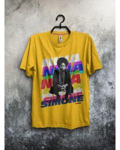 Camiseta Nina Simone II-Amarelo-G