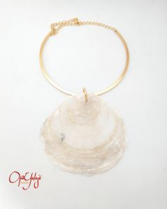 Gargantilha Ibimo com Concha Natural-Ouro