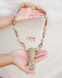 Maxi Colar Patuá em Cerâmica