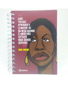 Nina Simone - Planner 14x20cm - 150 folhas