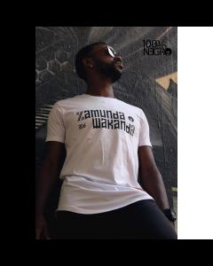 Camiseta Long line 100%NEGRO - ZAMUNDA and WAKANDA-Branco-P