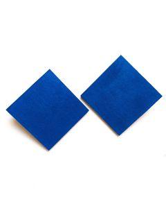 Brinco Maxi Quadrado-Azul