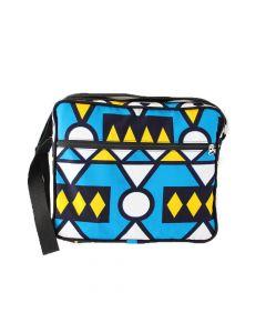 Bolsa pasta em tecido africano - Oru