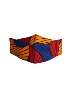 Máscara 3D em tecido africano - Santana tradicional-P
