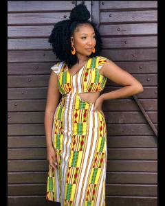 Vestido feito com tecido africano. Atendemos plus size sob medida.