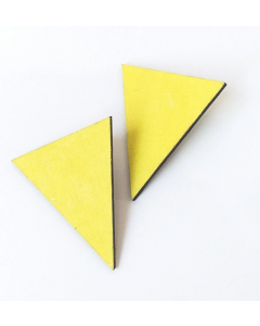 Brinco Triângulo-Amarelo