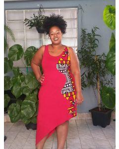 Vestido Afro Regata Recorte Lateral