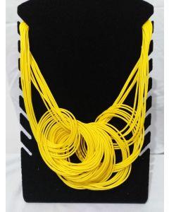 Colar Afro Redondo-Amarelo