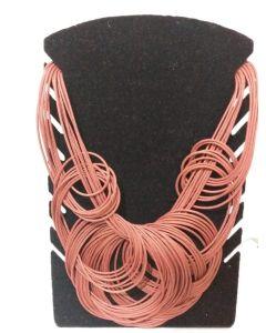 Colar Afro Redondo-Vermelho