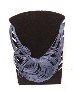 Colar Afro Redondo-Azul