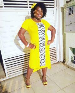 Vestido Afro Sereia com Mangas